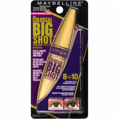 Maybelline Colossal Big Shot Brownish Black Mascara Perspective: front