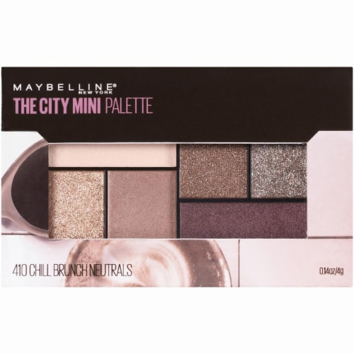 Maybelline The City Chill Brunch Neutrals Mini Eyeshadow Palette Perspective: front
