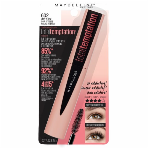 Maybelline Total Temptation 602 Very Black Washable Mascara Perspective: front