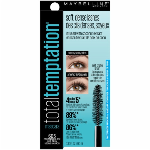 Maybelline Total Temptation Brown Black Waterproof Mascara Perspective: front