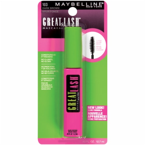 Maybelline Great Lash 103 Dark Brown Washable Mascara Perspective: front
