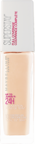 Maybelline Superstay 24-Hour Full Coverage 102 Fair Porcelain Liquid Foundation Perspective: front