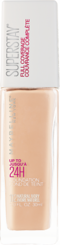 Maybelline Superstay Natural Ivory Full Coverage Liquid Foundation Perspective: front
