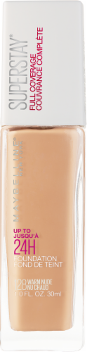 Maybelline Superstay Warm Nude Full Coverage Liquid Foundation Perspective: front