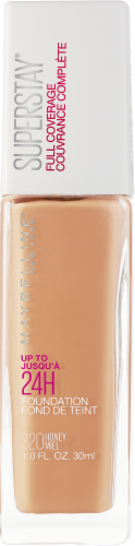 Maybelline Superstay 24-Hour Full Coverage 320 Honey Liquid Foundation Perspective: front