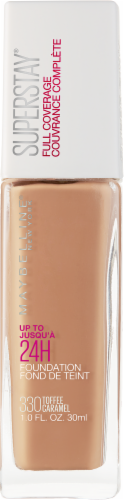 Maybelline Superstay 330 Toffee Caramel Full Coverage Liquid Foundation Perspective: front