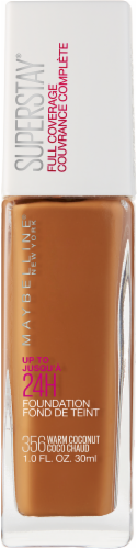 Maybelline Superstay Warm Coconut Full Coverage Liquid Foundation Perspective: front