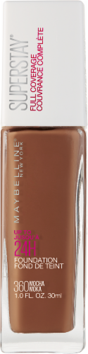 Maybelline Superstay Mocha Full Coverage Liquid Foundation Perspective: front