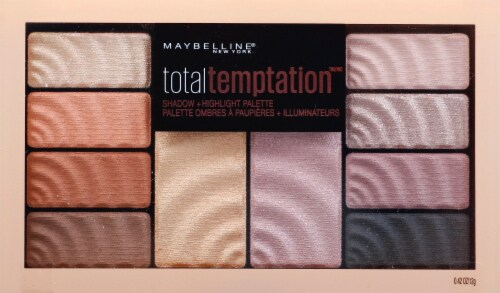 Maybelline Total Temptation Eyeshadow + Highlighter Palette Perspective: front
