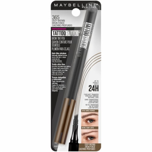 Maybelline TattooStudio Deep Brown Brow Tint Pen Perspective: front