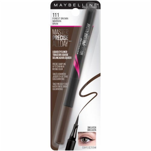 Maybelline EyeStudio 111 Forest Brown All Day Liquid Eyeliner Perspective: front