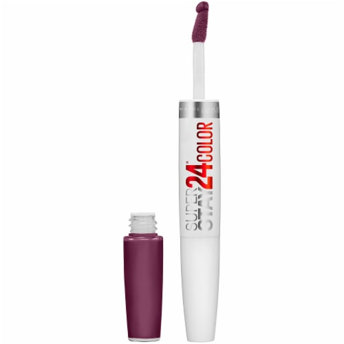 Maybelline SuperStay 24 Extreme Aubergine Liquid Lipstick Perspective: front