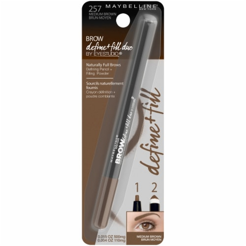 Maybelline Medium Brown Brow Define & Fill Duo Pencil Perspective: front