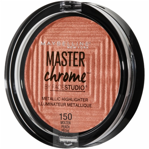 Maybelline FaceStudio Master Chrome 150 Molten Peach Metallic Highlighter Perspective: front