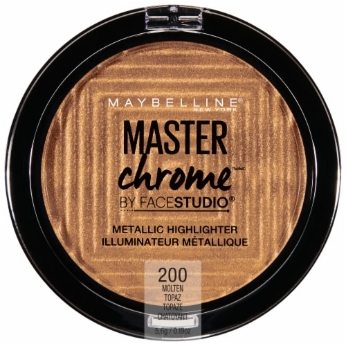 Maybelline FaceStudio Master Chrome 200 Molten Topaz Metallic Highlighter Perspective: front