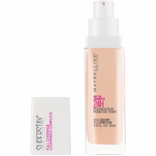 Maybelline Super Stay Full Coverage Fair Ivory 105 Liquid Foundation Perspective: front