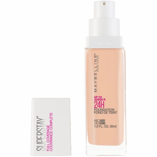 Maybelline Super Stay Full Coverage Ivory 115 Liquid Foundation Perspective: front