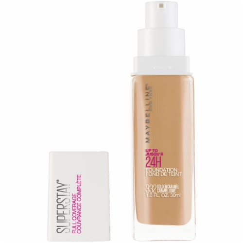 Maybelline Super Stay Full Coverage Golden Caramel 332 Liquid Foundation Perspective: front