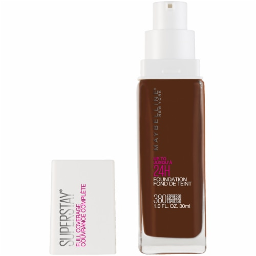 Maybelline Super Stay Full Coverage Espresso 380 Liquid Foundation Perspective: front
