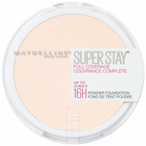 Maybelline Super Stay Full Coverage 110 Porcelain Powder Foundation Perspective: front