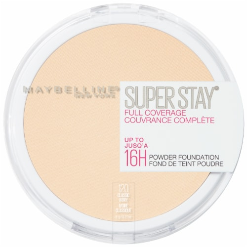 Maybelline Super Stay Full Coverage 120 Classic Ivory Powder Foundation Perspective: front