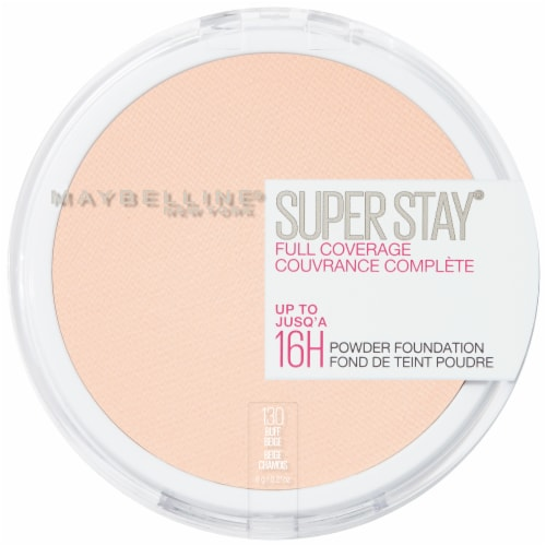 Maybelline Super Stay Full Coverage 130 Buff Beige Powder Foundation Perspective: front