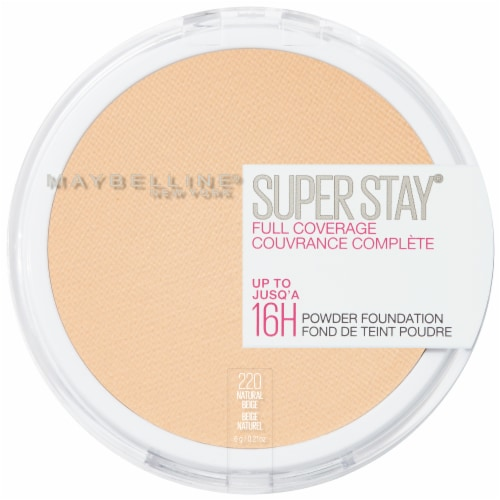 Maybelline Super Stay Full Coverage 220 Natural Beige Powder Foundation Perspective: front