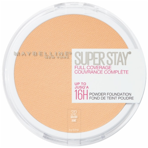 Maybelline Super Stay Full Coverage 312 Golden Powder Foundation Perspective: front