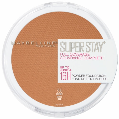 Maybelline Super Stay Full Coverage 355 Coconut Powder Foundation Perspective: front