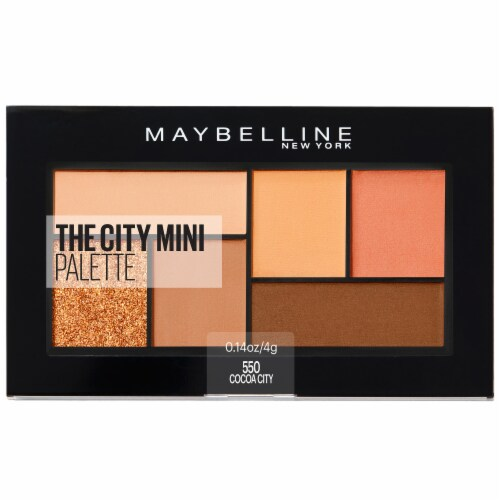 Maybelline The City Mini Eyeshadow Palette Makeup - Cocoa City 550 Perspective: front