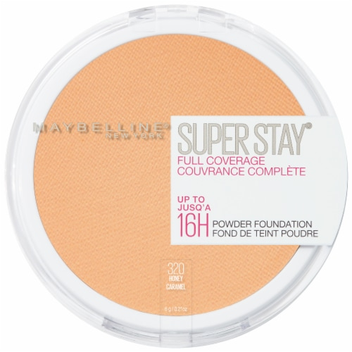 Maybelline Super Stay Full Coverage 320 Honey Powder Foundation Perspective: front