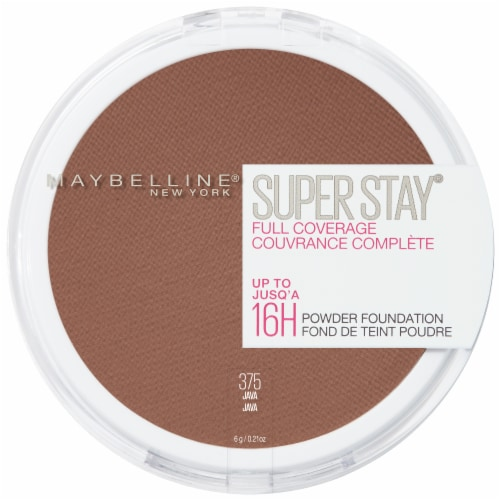 Maybelline Super Stay Full Coverage 375 Java Powder Foundation Perspective: front