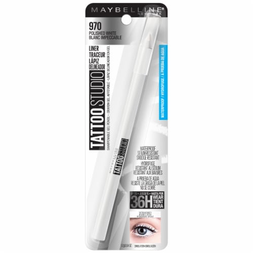 Maybelline TattooStudio 970 Polished White Waterproof Eyeliner Perspective: front