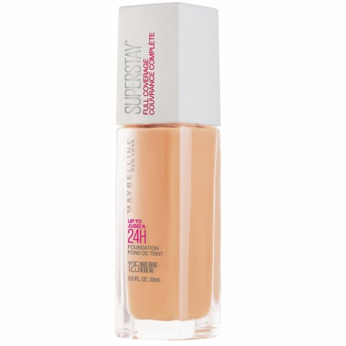 Maybelline Super Stay Full Coverage Nude Beige Liquid Foundation Perspective: front