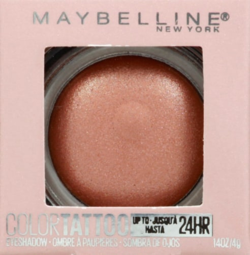 Maybelline Color Tattoo Longwear Socialite Cream Eyeshadow Perspective: front