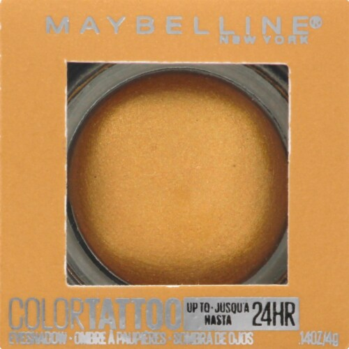 Maybelline Color Tattoo Longwear Golden Girl Cream Eyeshadow Perspective: front