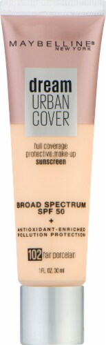 Maybelline Dream Urban Cover 102 Fair Porcelain Foundation Perspective: front