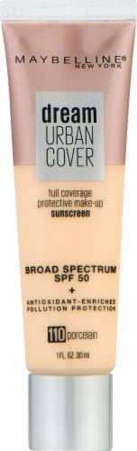 Maybelline Dream Urban Cover 110 Porcelain Foundation Perspective: front