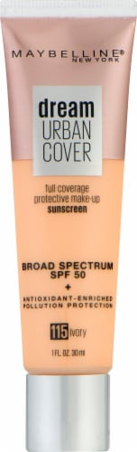 Maybelline Dream Urban Cover 115 Ivory Foundation Perspective: front