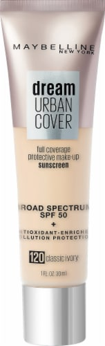 Maybelline Dream Urban Cover 120 Classic Ivory Foundation Perspective: front