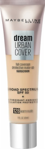 Maybelline Dream 128 Warm Nude Urban Cover Foundation SPF 50 Perspective: front