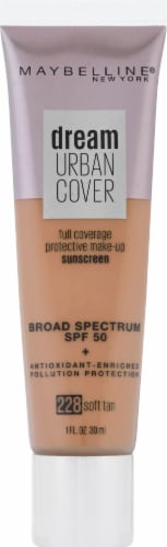 Maybelline Dream Urban Cover 228 Soft Tan Foundation Perspective: front