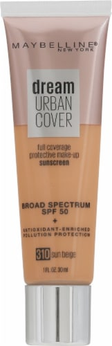 Maybelline Dream Urban Cover 310 Sun Beige Foundation Perspective: front