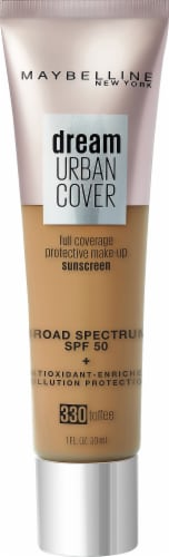 Maybelline Dream Urban Cover 330 Toffee Foundation Perspective: front