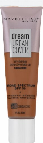Maybelline Dream Urban Cover 340 Cappuccino Foundation Perspective: front