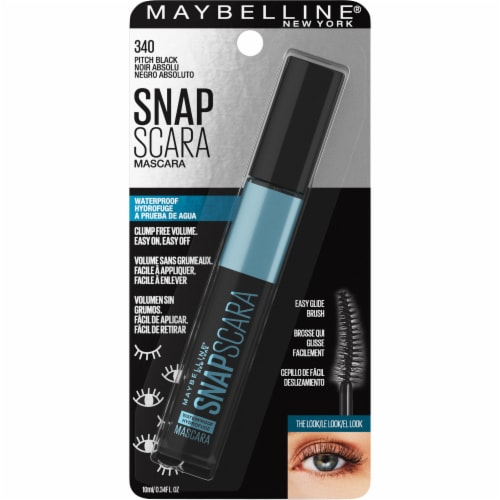 Maybelline Snapscara 340 Pitch Black Waterproof Mascasa Perspective: front