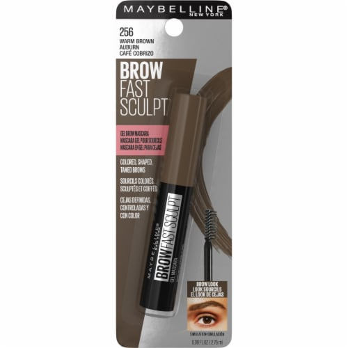 Maybelline Brow Fast Sculpt 256 Warm Brown Gel Brow Mascara Perspective: front