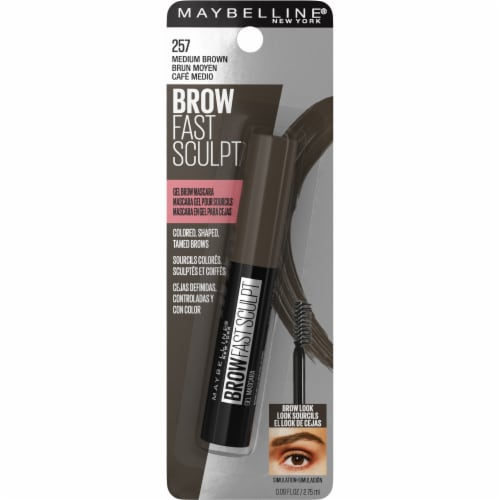 Maybelline Brow Fast Sculpt 257 Medium Brown Gel Brow Mascara Perspective: front