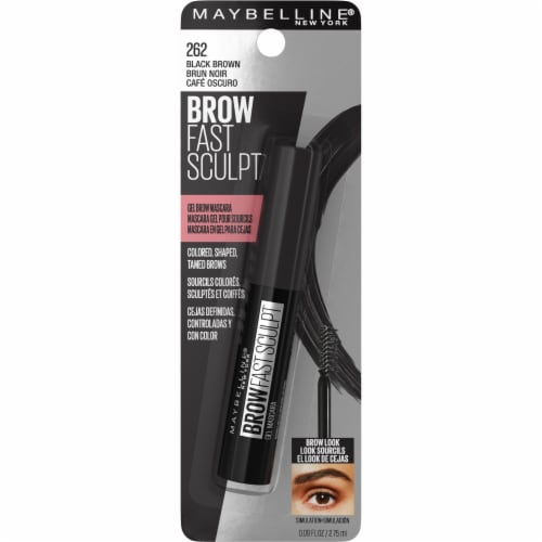 Maybelline Brow Fast Sculpt 262 Black Brown Gel Brow Mascara Perspective: front