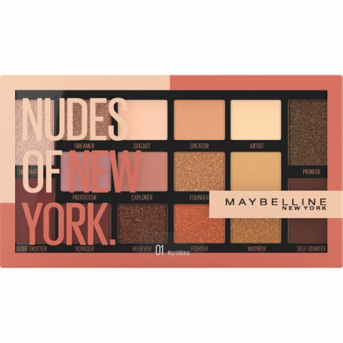 Maybelline Eyestudio 01 Nudes of New York Eyeshadow Palette Perspective: front